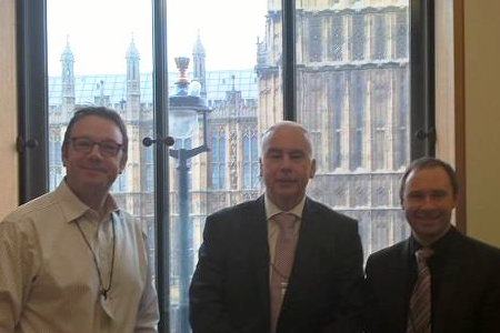 Left to right: Charles Bill, Vice-Chairman, Max Halford, Chairman and Jonathan Drew, Business Manager