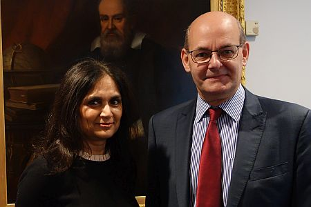 Pictured above: Parul Desai and David Parkins