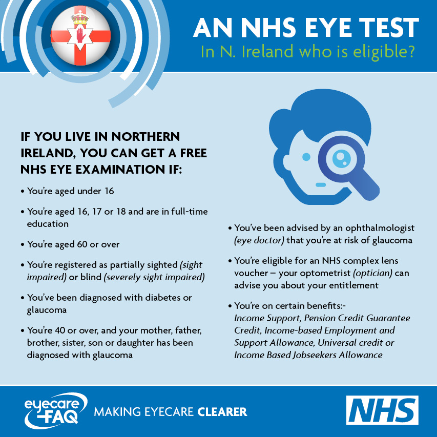 NHS eye test Northern Ireland